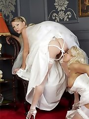 Lana gets dressed for a wedding but needs her pussy eaten first