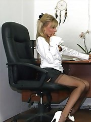 Leggy Lana has some fun with her new horny secretary